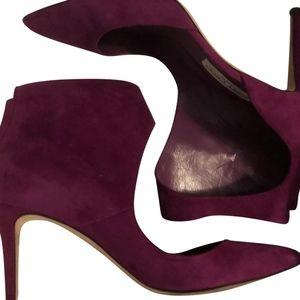 Purple/Fuchsia Madeline Suede Boots/Booties